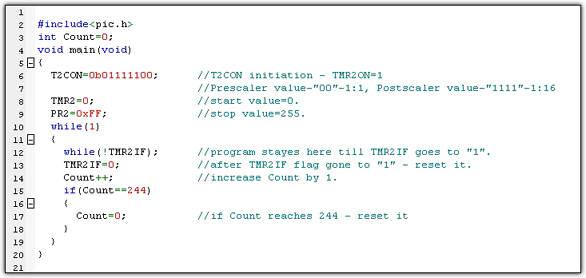 PIC16F877 Timer Modules tutorials | Timer2